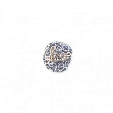 Pandora Silver & 14ct Gold Message Of Love Charm 791425