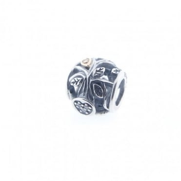 Pandora Silver & 14ct Gold Tumbling Leaves Charm 791205CZ