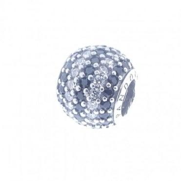 Pandora Silver & Black Stripe Pave Charm 791172NCK
