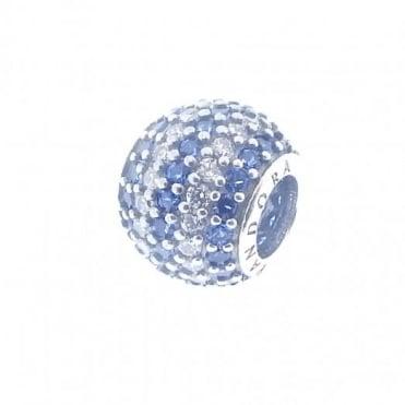 Pandora Silver Blue Stripe Pave Charm 791172NCB