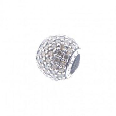 Pandora Silver Gold Pave Charm 791051FCZ