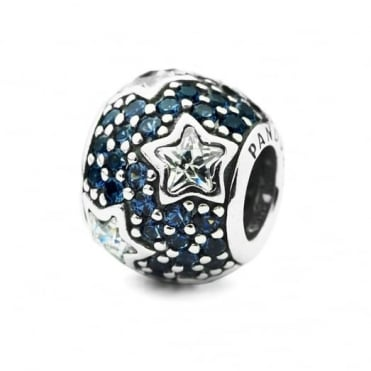Pandora Silver Midnight Blue Pave Stars Charm 791382CZ