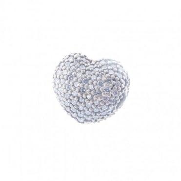 Pandora Silver Open My Heart Pave Clip 791427CZ