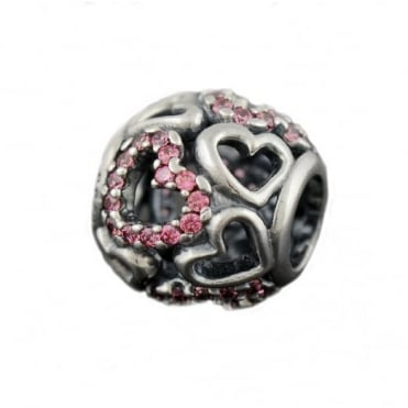 Pandora Silver Pave Falling In Love Charm 790424CZS