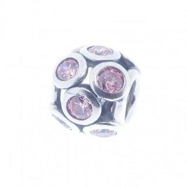 Pandora Silver & Pink Openwork Charm 791153CZS