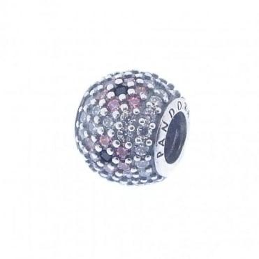 Pandora Silver & Pink Pave Cherry Blossom Charm 791129CZ