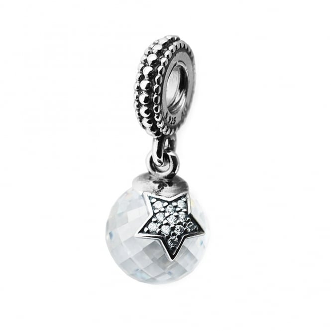 Silver star moon drop charm 791392cz jewellery from hillier silver star amp moon drop charm 791392cz mozeypictures Gallery