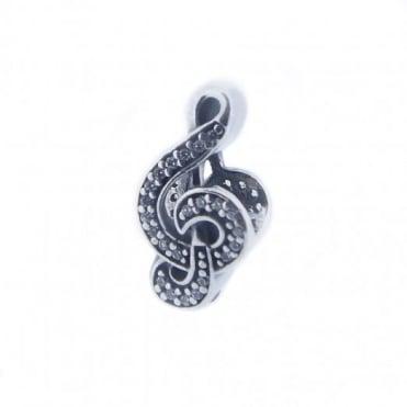 Pandora Silver Sweet Music Charm 791381CZ