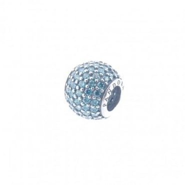 Pandora Silver Teal Pave Charm 791051MCZ