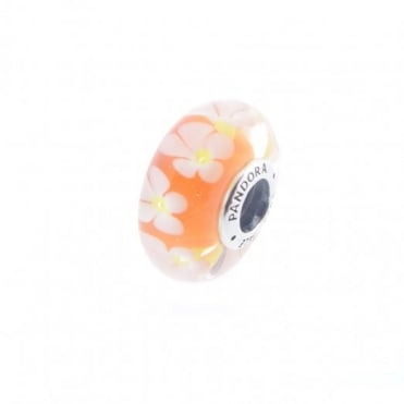 Pandora Tropical Flower Murano Glass Charm 791624
