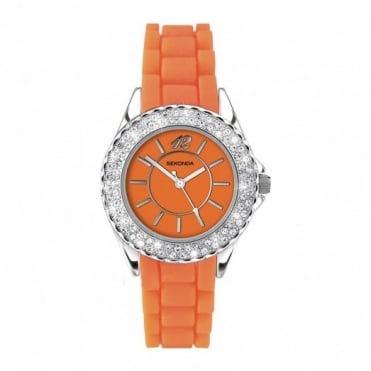 Party Time by Sekonda Orange Ladies Watch 4448