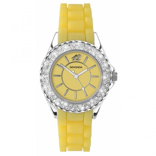 Party Time by Sekonda Yellow Ladies Watch 4450