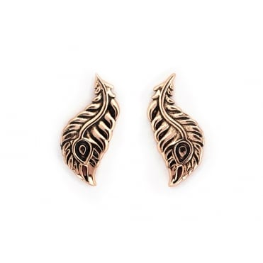 Peacock Feather Gold Plated Earrings CRET0411AR