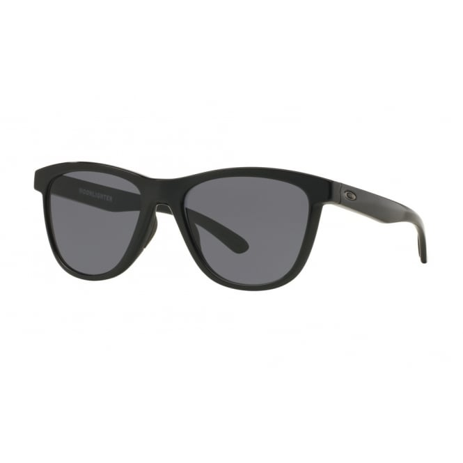Polished Black Gray Moonlighter Sunglasses OO9320-01