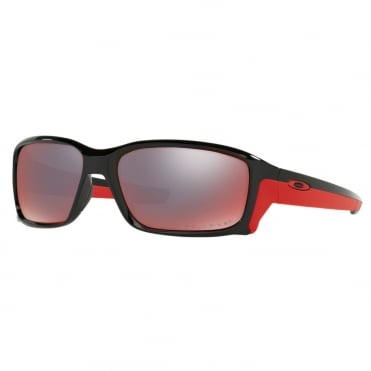Polished Black & Red Straightlink Sunglasses OO9331-08