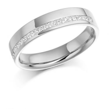 The Raphael Collection Princess Cut .25ct Off Set Half Eternity Ring HET950