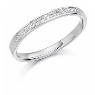 The Raphael Collection Princess Cut .33ct Half Eternity Ring HET1157