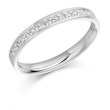 The Raphael Collection Princess Cut .50ct Half Eternity Ring HET993