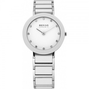 Bering Ladies S/Steel & Ceramic White Watch 11429-754