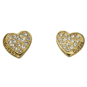 Guess Desert Beauty Heart Stud Earrings UBE11411
