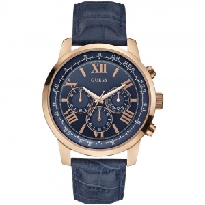 Guess Gents Rose Plate Horizon Chronograph Watch W0380G5