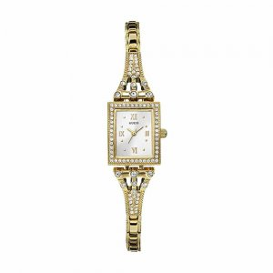 Guess Ladies Gold Plate Stone Set Scarlett Watch W0430L2