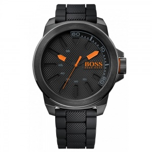 Hugo Boss Orange Gents' Black Rubber Strap Watch 1513004