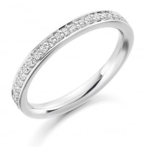 The Raphael Collection Round Brilliant Cut .25ct Half Eternity Ring HET1461