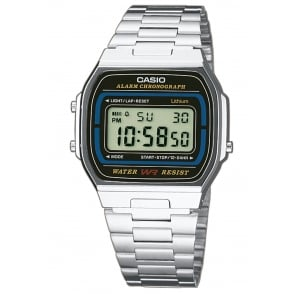 Casio S/Steel Classic Digital Watch A164WA-1VES