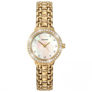 Sekonda Ladies Gold Plate Stone Set Watch 4690