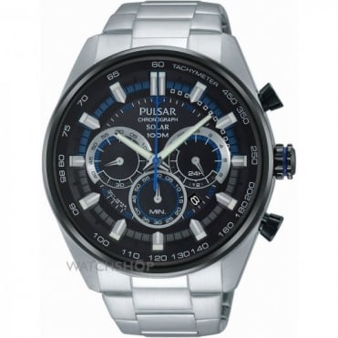 Gent's Stainless Steel Solar Chronograph Watch PX5019X1