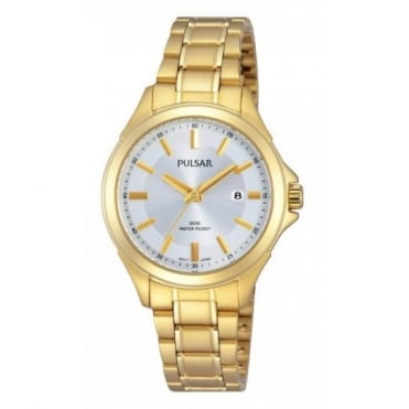 Pulsar Ladies' Gold Plated Watch PH7372X1