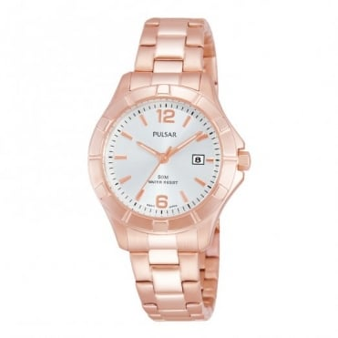 Pulsar Ladies' Gold Plated Watch PH7388X1