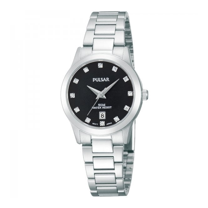 Pulsar Ladies' S/Steel Stone Set Watch PH7277X1