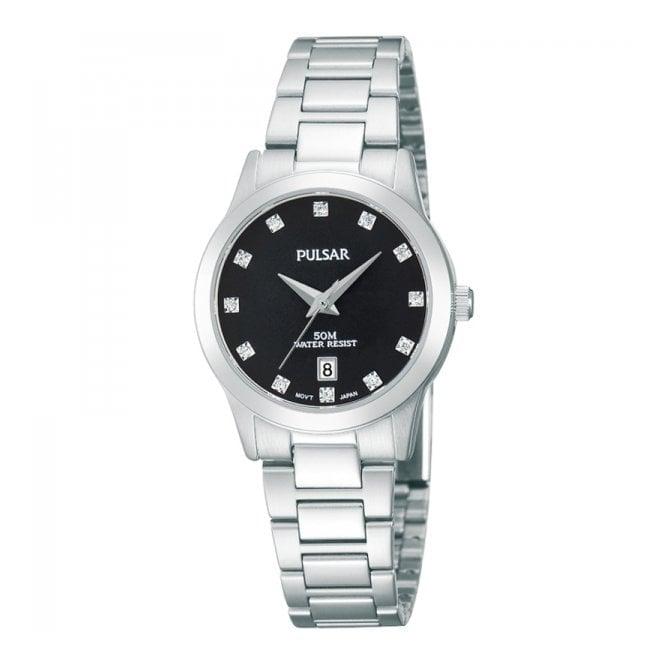 Pulsar Ladies' S/Steel Stone Set Watch PH7277X1