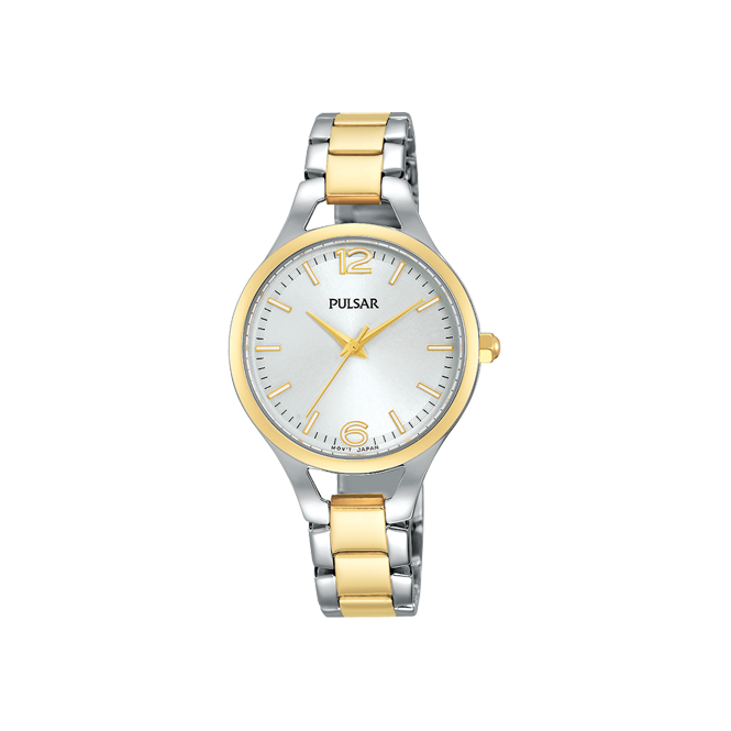 Pulsar Ladies' Two Tone Steel & Gold Plated Watch PH8186X1