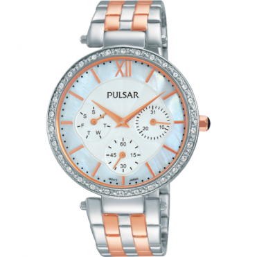 Pulsar Ladies' Two Tone Steel Watch PP6213X1