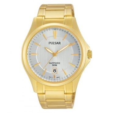 Pulsar Men's Gold Plated Solar Watch PS9384X1