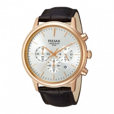 Pulsar Men's Rose Gold Plated Chronograph Watch PT3382X1