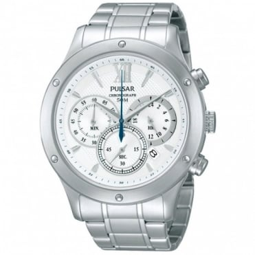 Pulsar Men's S/Steel Chronograph Watch PU2057X1