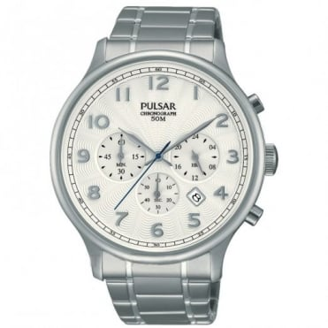 Pulsar Men's Stainless Steel Chronograph Watch PT3645X1