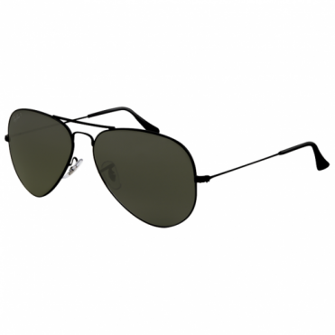 Black Aviator Sunglasses RB3025 002/58 58