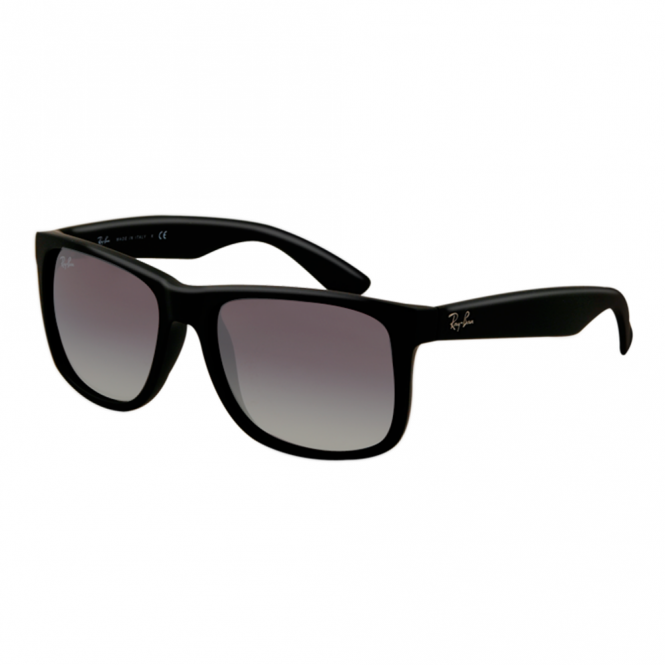 4727d55020a51 Black Justin Sunglasses RB4165 601 8G 55 - Sunglasses from Hillier ...