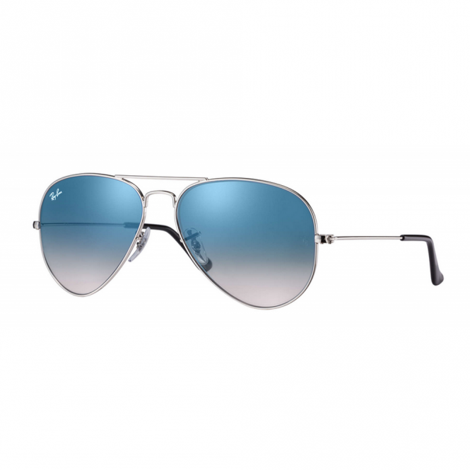 0b30b588d7e Blue Gradient Aviator Sunglasses RB3025 003 3F 58 - Sunglasses from ...