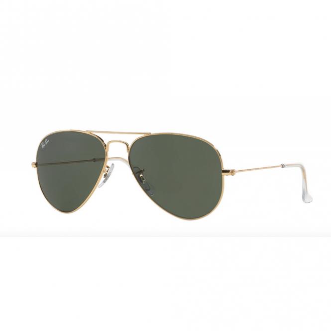 b5a3bb9c3f Gold Aviator Sunglasses RB3025 W3234 55 - Sunglasses from Hillier ...