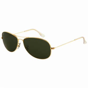 Ray-Ban Gold Cockpit Sunglasses RB3362 001 59