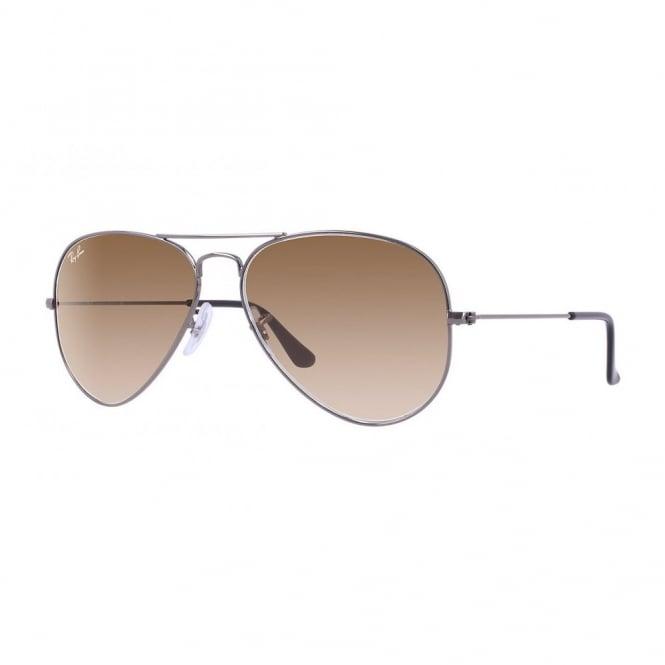 855f6bca2212e Gunmetal Aviator Sunglasses RB3025 00451 - Sunglasses from Hillier ...
