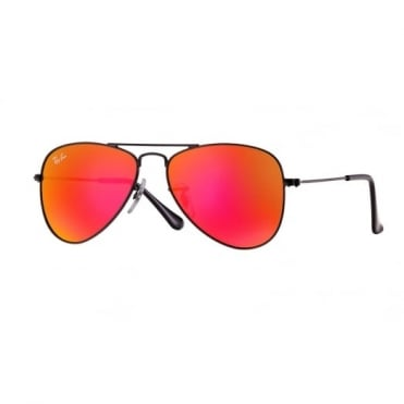 Ray-Ban Junior Red Multilayer Aviator Sunglasses RJ9506S 201/6Q 50