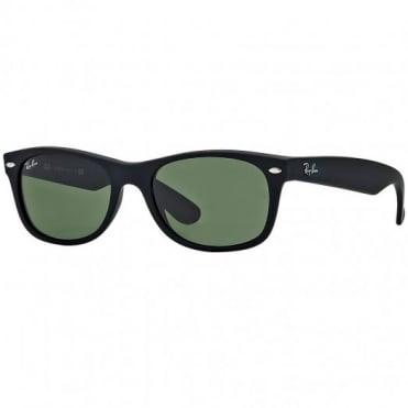 Ray-Ban Matte Black New Wayfarer Sunglasses RB2132 622/30 55