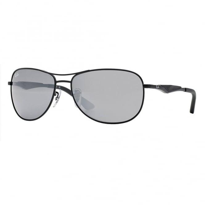 b0f154bb07 Matte Black Pilot Sunglasses RB3519 006 6G 59 - Sunglasses from ...